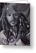 Captain Jack Sparrow Greeting Card by Lori Keilwitz