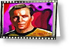 Captain James T Kirk Greeting Card