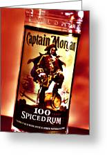 Captain Morgan Red Toned Greeting Card