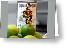 Captain Morgan Greeting Card