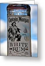 Captain Morgan White Rum Greeting Card