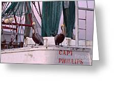 Captain Phillips And First Mate Greeting Card