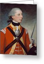 Captain Thomas Hewitt, 10th Regiment Greeting Card by William Tate