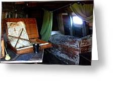 Captain's Quarters Aboard The Mayflower Greeting Card