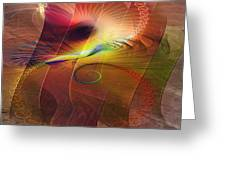 Captive Moment - Square Version Greeting Card