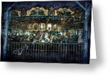 Captive On The Carousel Of Time Greeting Card
