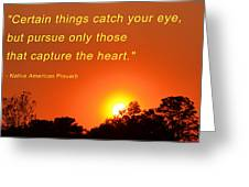 Capture The Heart Greeting Card