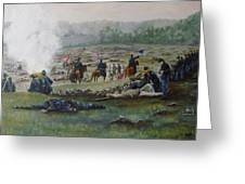 Capturing The Flag-picketts Charge Greeting Card