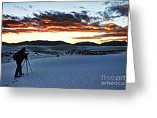 Capturing The Sunset Greeting Card