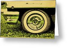 Car And Tire Greeting Card