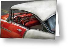 Car - Classic 50's  Greeting Card by Mike Savad
