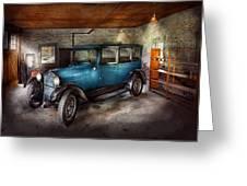 Car - Granpa's Garage  Greeting Card by Mike Savad