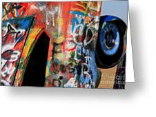 Car Of Many Colors Greeting Card