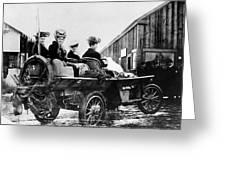 Car Race, 1908 Greeting Card