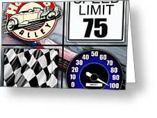 Speed Demon Art For Boys And Men Greeting Card