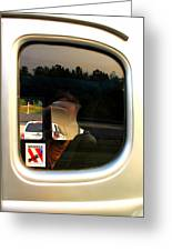 Car Window Reflection Greeting Card