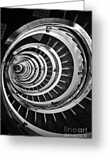 Time Tunnel Spiral Staircase In Sao Paulo Brazil Greeting Card