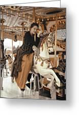Caramel Carousel Greeting Card