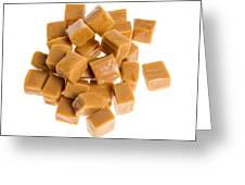 Caramel Cubes Greeting Card