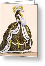 Caramel Dress For Presentation Greeting Card
