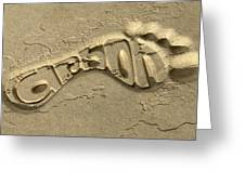 Carbon Footprint In The Sand Greeting Card