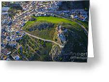 Carcabuey Castle From The Air Greeting Card