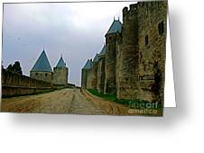 Carcassonne Walls Greeting Card by France  Art