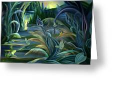 Card Design For Insects Of Enchanted Stream Greeting Card