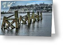 Cardiff Bay Old Jetty Supports Greeting Card