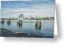 Cardiff Bay Towards St Davids Hotel Long Exposure Greeting Card