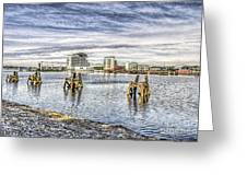 Cardiff Bay Towards St Davids Hotel Greeting Card