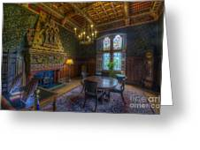 Cardiff Castle Apartment Dining Room Greeting Card