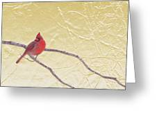 Cardinal In Gold Leaf Greeting Card