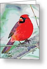 Cardinal In Ice Tree Greeting Card