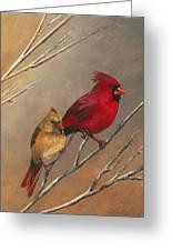 Cardinal Mates Greeting Card