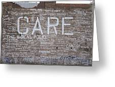 Care In Detroit  Greeting Card