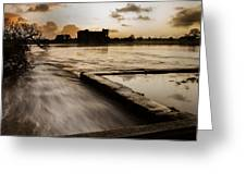 Carew Castle And Lake Greeting Card