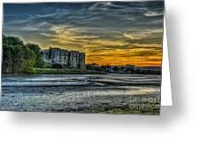 Carew Castle Sunset 3 Greeting Card