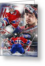 Carey Price Greeting Card by Mike Oulton