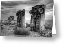 Carhenge Automobile Art 3 Greeting Card