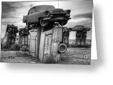 Carhenge Automobile Art 4 Greeting Card
