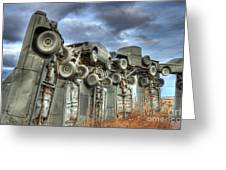 Carhenge Automobile Art Greeting Card