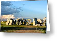 Carhenge Somewhere In Nebraska Greeting Card