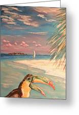 Caribbean Afternoon Greeting Card by The Beach  Dreamer