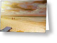 Caribbean Beach Greeting Card by Odon Czintos
