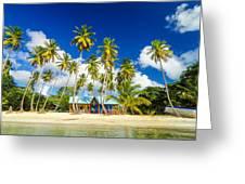 Caribbean Beach Shack Greeting Card