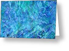 Caribbean Blue Abstract Greeting Card