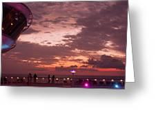 Caribbean Cruise Light Show Greeting Card