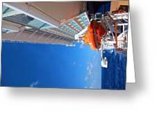 Caribbean Cruise - On Board Ship - 1212112 Greeting Card