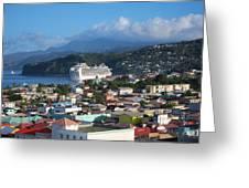 Caribbean Cruise - On Board Ship - 1212147 Greeting Card